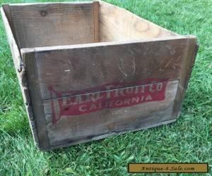 Item Antique Wood Crate Earl Fruit Wooden Farm Box for Sale