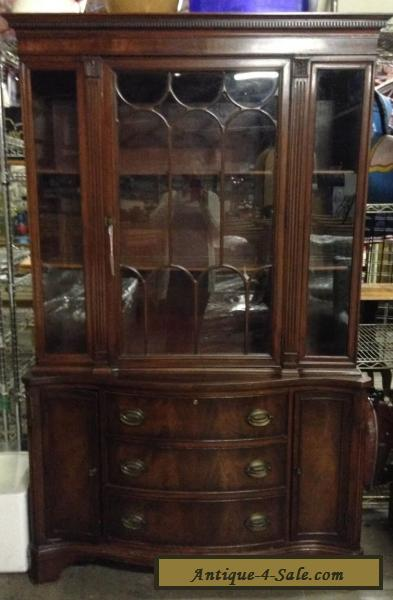 Superieur VINTAGE, MAHOGANY WOOD U0026 GLASS, DUNCAN PHYFE STYLE, CHINA CABINET / HUTCH  For
