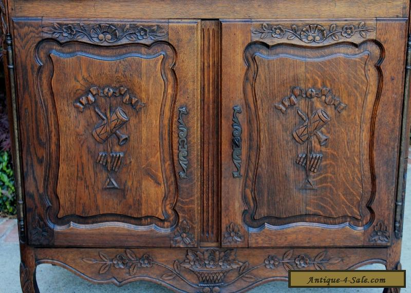 Antique Foyer Cabinet : Antique french lierges style oak cabinet cupboard entry