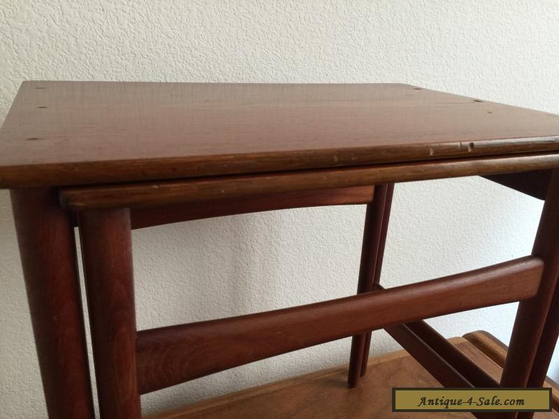 HANS WEGNER NESTING TABLES ANDREAS TUCK VINTAGE MID CENTURY EAMES DANISH  For Sale