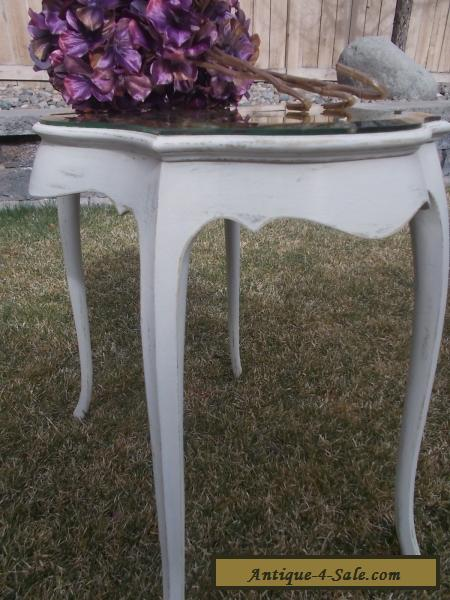 French Style Mirror Top End Table Side Table Bevelled Mirror Top For Sale