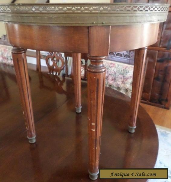 antique vintage marble top danby furniture co round end table for sale in united states. Black Bedroom Furniture Sets. Home Design Ideas