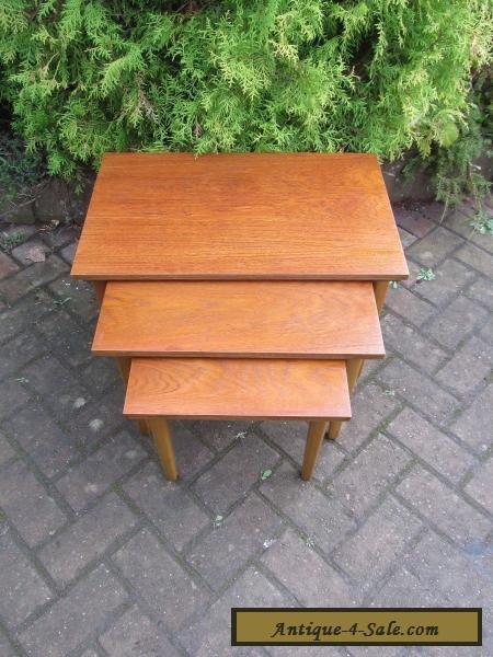 MID CENTURY DANISH MODERN 1960's TEAK NEST OF TABLES ...