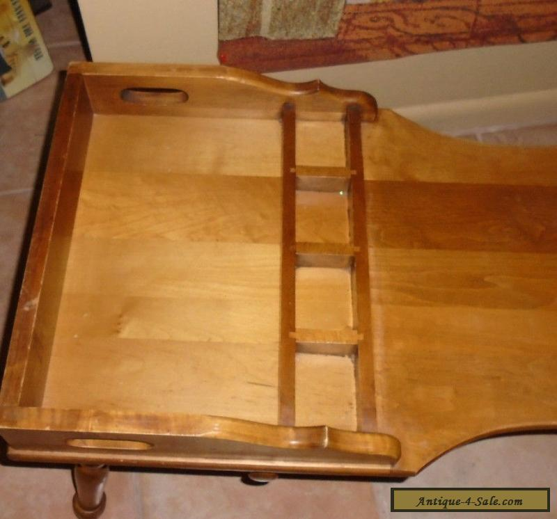 Vintage Maple Coffee Table: Vintage Solid Maple Early American Cobbler Bench Coffee