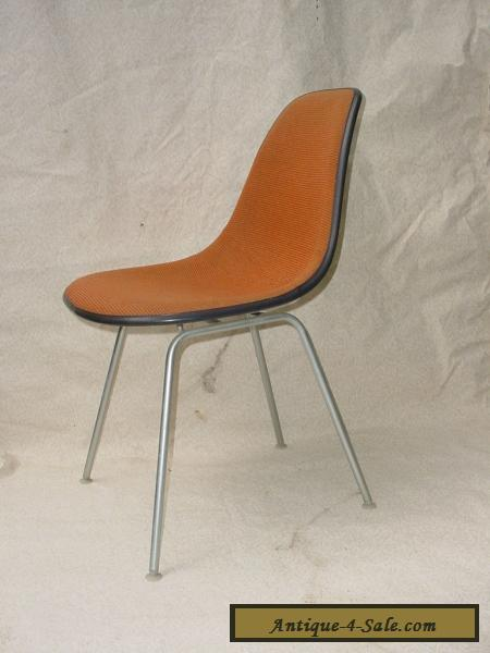 70u0027s Eames Herman Miller Shell Chair Alexander Girard Fabric On White  Fiberglass For Sale
