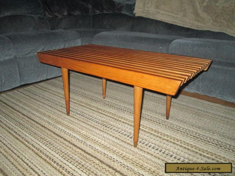 slat yugoslavian mid modern coffee table century bench