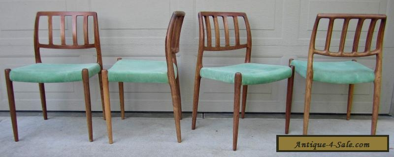 Set 4 Niels Moller Rosewood Dining Chairs Model 83