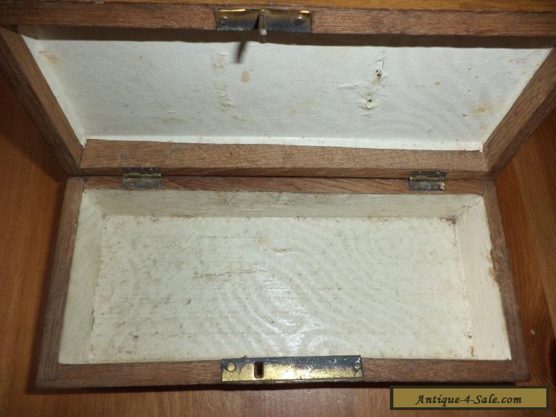 vintage wooden box marquetry lid for sale in united kingdom. Black Bedroom Furniture Sets. Home Design Ideas
