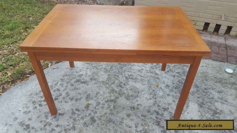 Mid Century Danish Danish Modern Teak Extension Dining Table For