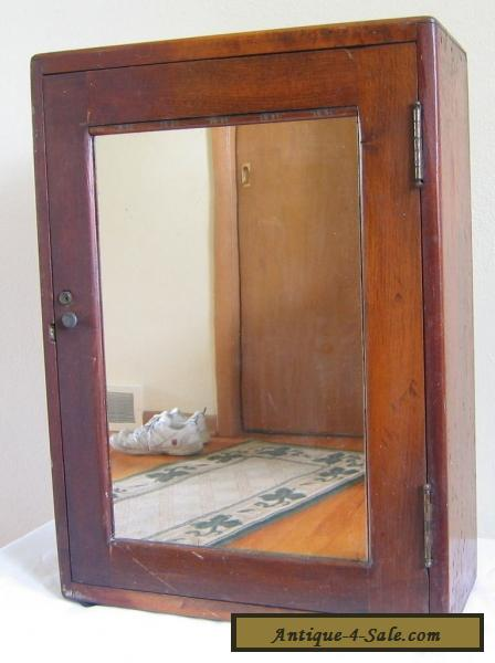 Vintage Medicine Bathroom Cabinet Apothecary Mirror Wood Wall Table Antique For