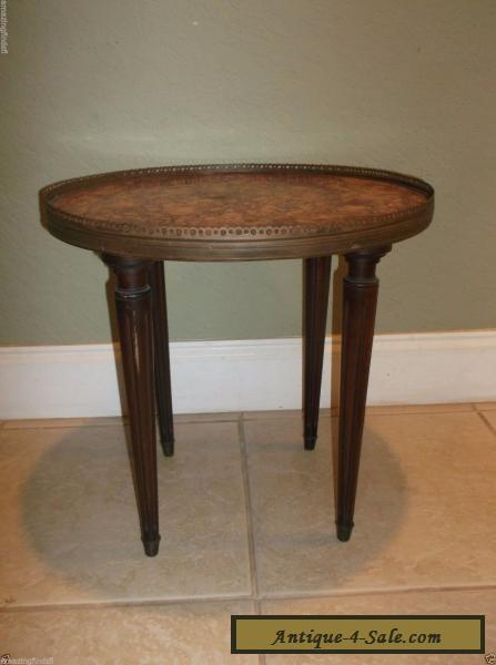 ANTIQUE LOUIS XVI STYLE VINTAGE MARBLETOP SIDE TABLE for Sale in