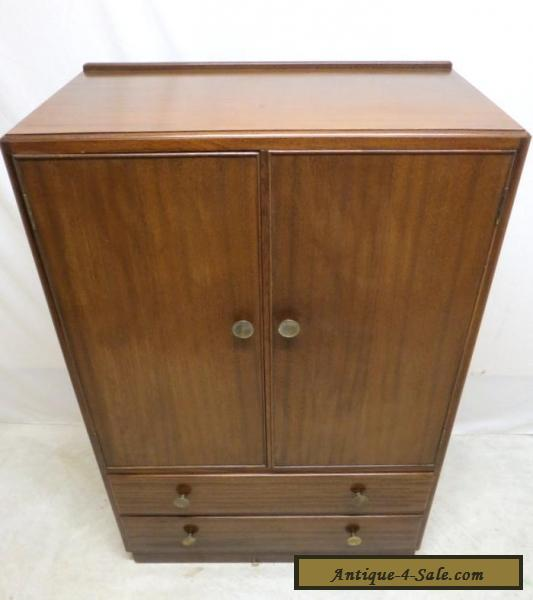 antique art deco mahogany highboy chest of drawers linen press dresser tall boy for sale in. Black Bedroom Furniture Sets. Home Design Ideas
