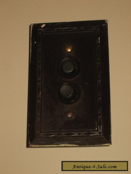 1910s 20s Leviton Two Push Button Wall Mount Electric