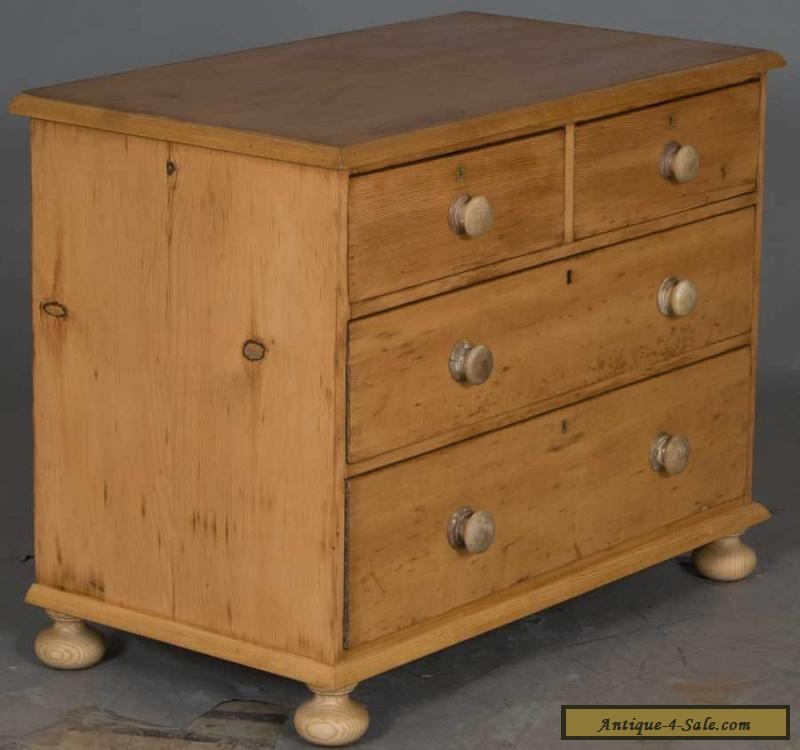Victorian Antique English Pine Dresser Chest of Drawers Nightstand. Dressers And Nightstands For Sale