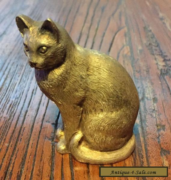Antique Silver Cat Ornament for Sale in Australia