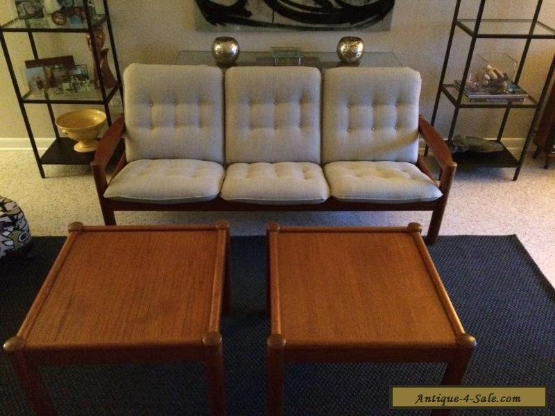 Vintage Domino Mobler Teak Danish Modern End/Sofa Tables for Sale in ...