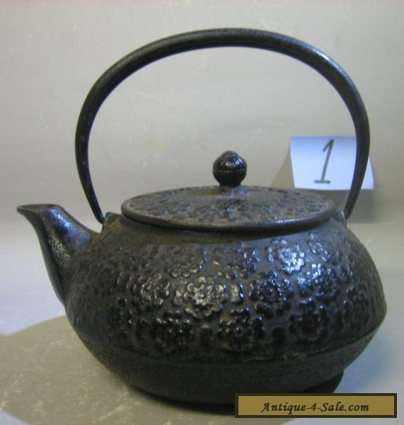 Vintage Antique Japanese Handmade Cast Iron Teapot Rare For Sale In
