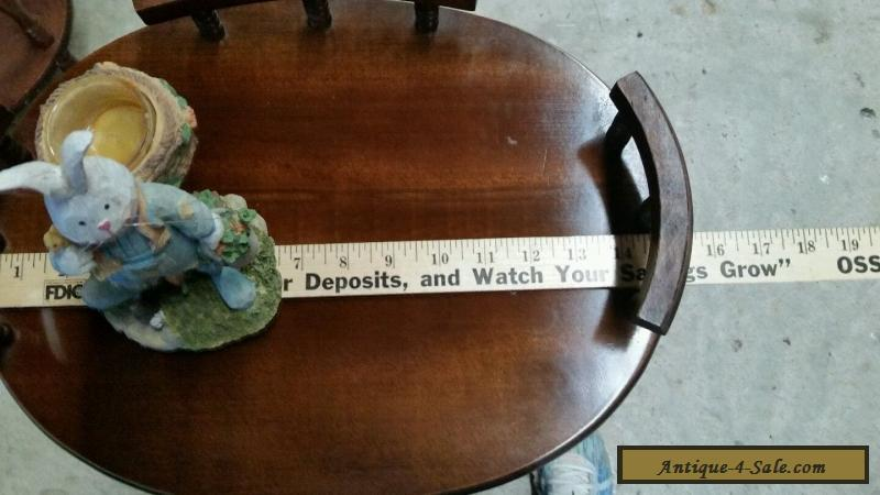 Vintage Wooden Pie Plant Telephone Stand With Drawer 3