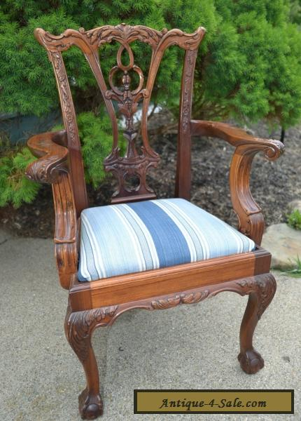 Vintage Child's Chippendale Style Arm Chair Georgian ...