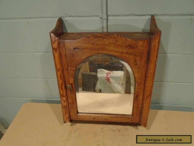 Vintage Medicine Cabinet Wood Antique Medicine Chest