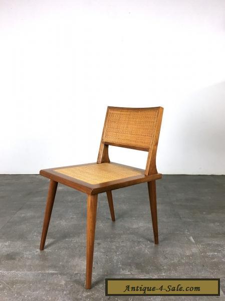 Rare Vintage Mid Century Modern Walnut Cane Chair 1950u0027s Laszlo Risom  Dunbar Era For Sale ...