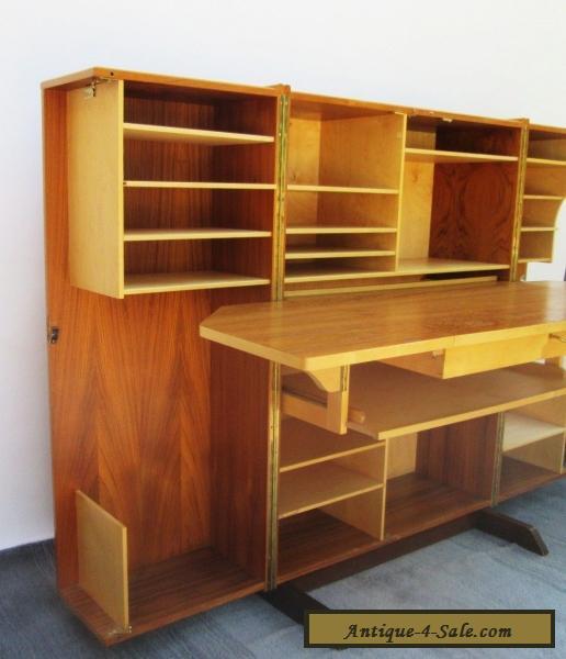 vintage danish modern teak wood folding cube locking desk with keys secretary for sale in united. Black Bedroom Furniture Sets. Home Design Ideas