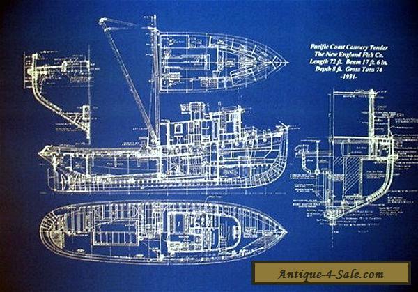 Vintage alaska fishing trawler 1933 blueprint drawing 20x24 005 vintage alaska fishing trawler 1933 blueprint drawing 20x24 005 for sale malvernweather Images