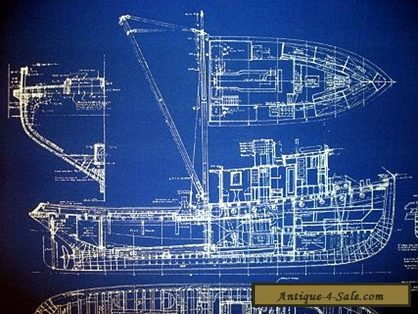 Vintage Alaska Fishing Trawler 1933 Blueprint Drawing 20
