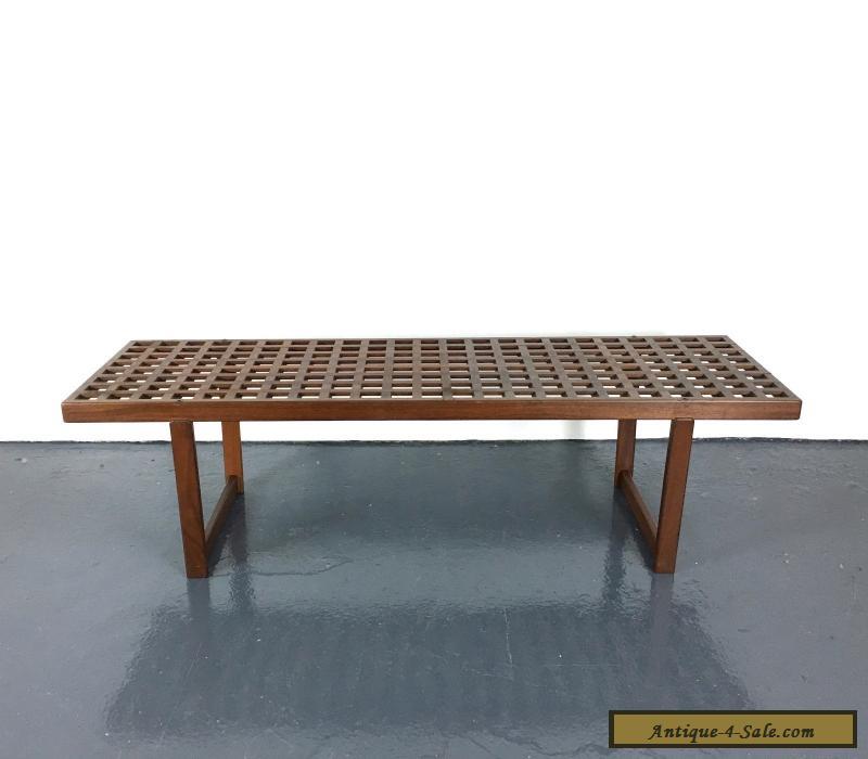 Vintage Mid Century Danish Modern Teak Bench Coffee Table ...