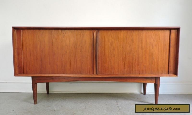 Mid Century Danish Credenza : Mid century danish modern teak credenza sideboard cabinet pedersen