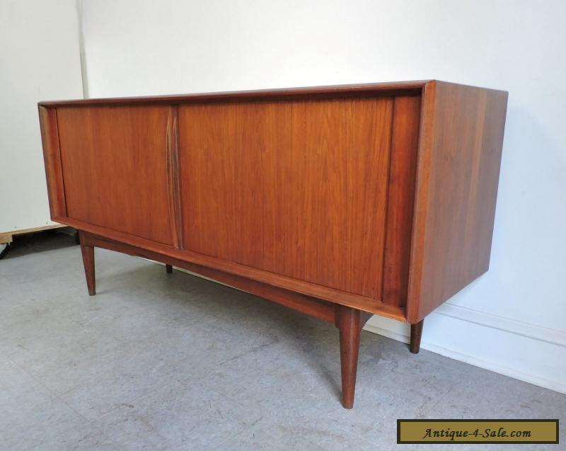 Danish Teak Credenza For Sale : Mid century danish modern teak credenza sideboard cabinet pedersen