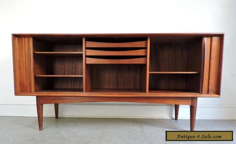 Danish Modern Teak Credenza : Mid century danish modern teak credenza sideboard cabinet pedersen