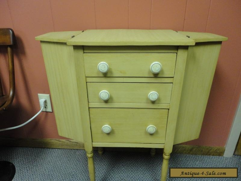 vintage antique wood martha washington sewing cabinet nightstand end table for sale in united states. Black Bedroom Furniture Sets. Home Design Ideas