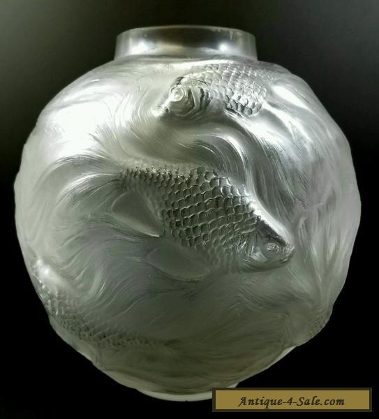 Rene Lalique C1934 Antique French Art Deco Art Glass Vase