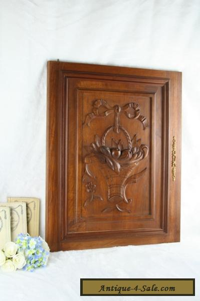 Antique French Wood Carved Door Panel Cabinet No1 For Sale In United