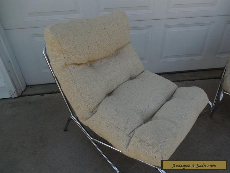 Awesome Vintage Mid Century Modern Sling Chair Set Don
