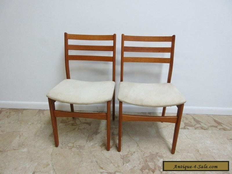 2 danish modern nordic furniture teak dining room side for Modern dining room chairs for sale