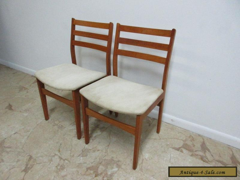 furniture teak dining room side chairs set mid century 371643739948