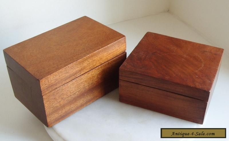 2 vintage wooden boxes for sale in united kingdom. Black Bedroom Furniture Sets. Home Design Ideas