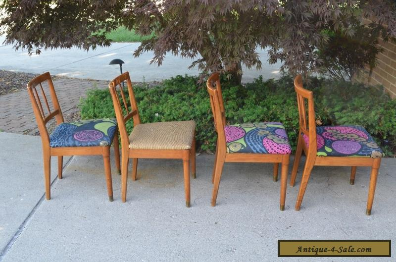 4 Mid Century Modern Drexel Dining Chairs For Sale ...