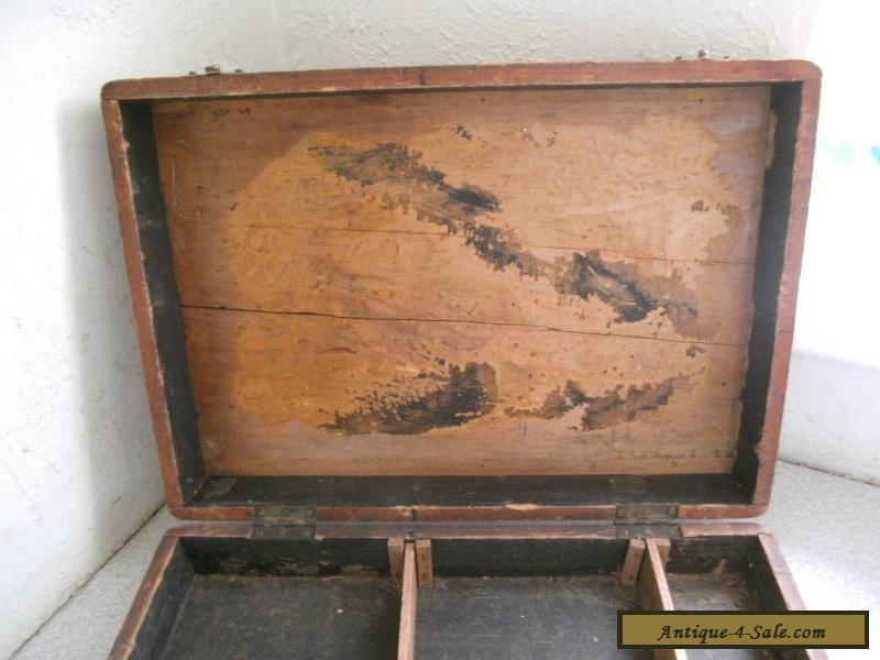 Antique Vintage Wooden Collectors Specimen Storage Case Box