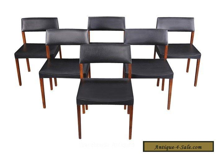 Six Rosewood Dining Chairs Danish Modern Mid Century for ...