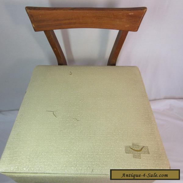 Vintage Danish Sewing Mid Century Modern Chair Wood Back