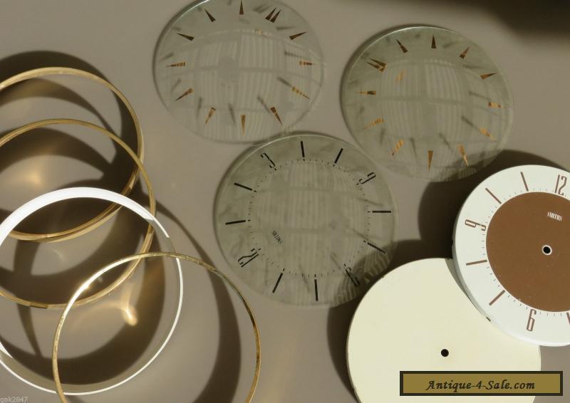ORIGINAL VINTAGE - BULK LOT - SMITHS WALL CLOCK GLASS DIALS & FRAMES ...
