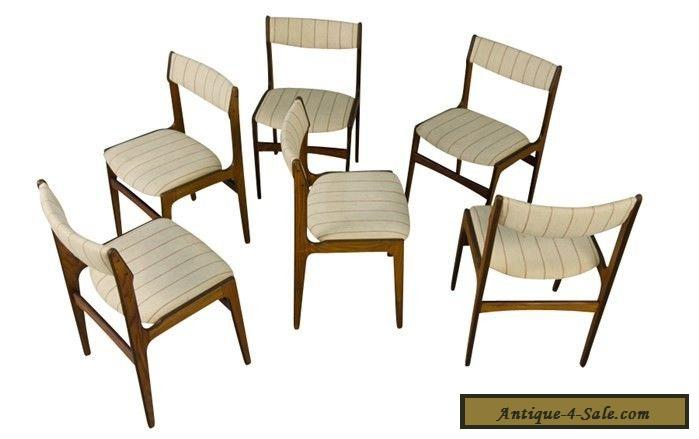 Rosewood Dining Chairs Six Danish Modern Mid Century for ...