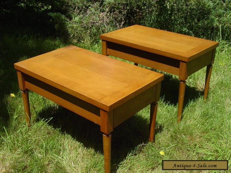 2 VINTAGE 1950S WIDDICOMB END TABLE SET GIBBINGS NIGHT STANDS MODERN For  Sale