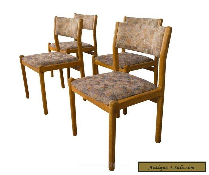 Moller Teak Dining Chairs Mid Century Danish Modern For