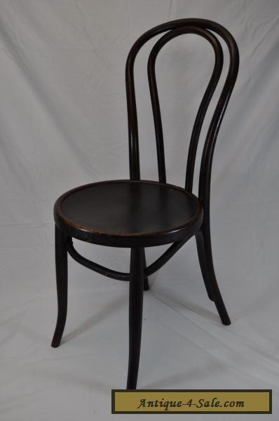 Antique Vintage Bentwood Cafe Chair~Thonet Kohn Fischel Mundus Style~Wood  Seat For Sale