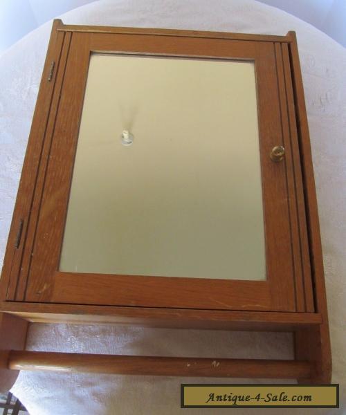 Vintage Medicine Cabinet Wood Antique Medicine Chest Mirror Early ...