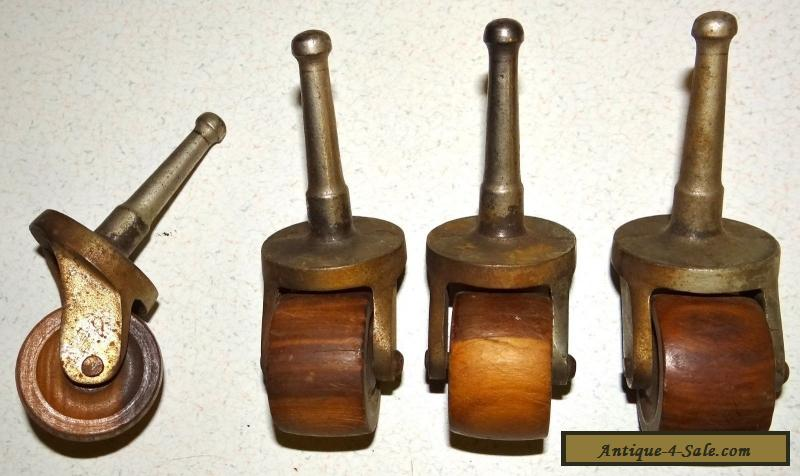 Matching Set of 4 Antique Furniture Casters 1